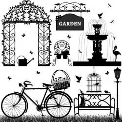 black white park elements eps file vector eps free
