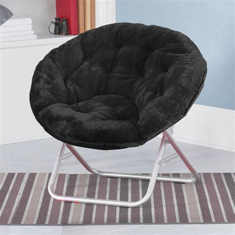 faux fur saucer moon chair room lounging furniture