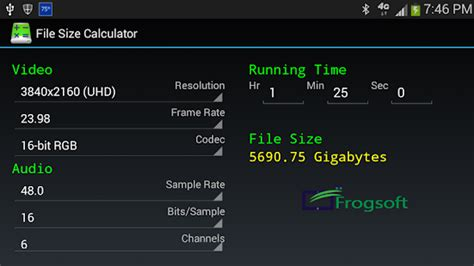 video format file size calculator file size calculator android apps on google play