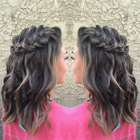 homecoming hairstyles for medium hair homecoming hairstyle half up half down short medium