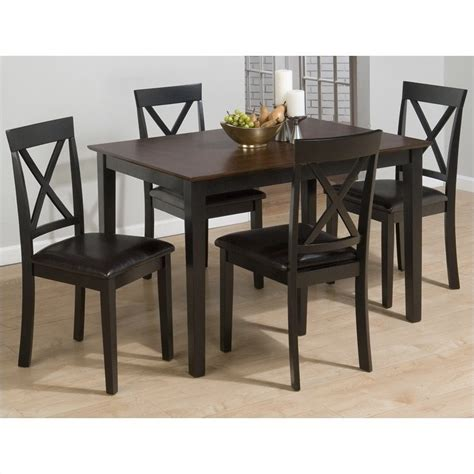 dinner table set 261 series 5 piece dining table set in burly brown and