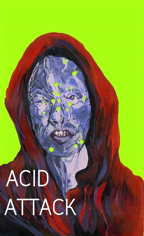 acid attack poster design  risd portfolios