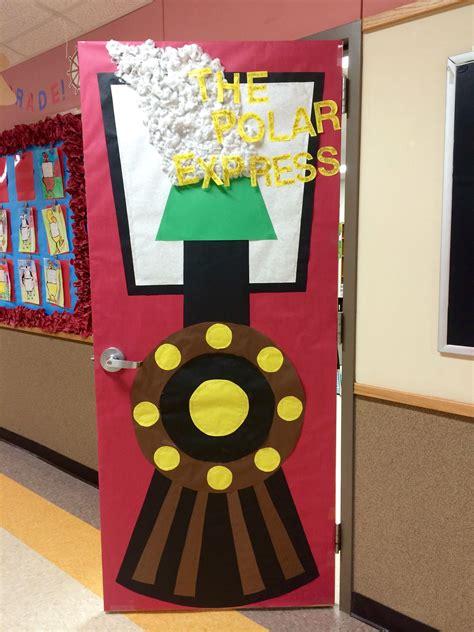 polar express decorating theme all aboard the polar express classroom door choo choo adoorables