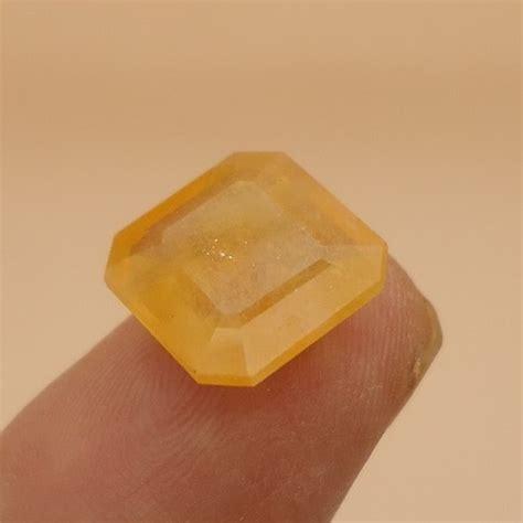 Mustika Orange Sapphire Kode 2351 batu bertuah sapphire orange pusaka dunia