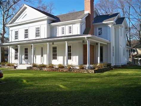 greek revival farmhouse new 1850 s greek revival farm house traditional