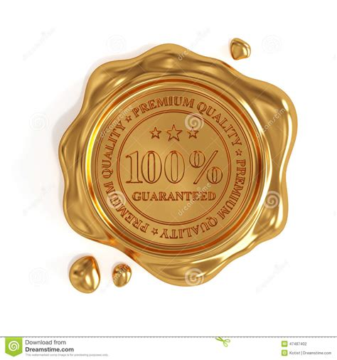 Esther Gold S M Whitening 100 Original Quality golden wax seal 100 percent premium quality st isolated stock illustration image 47487402