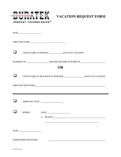 vacation request form templates pin employee vacation request form template on