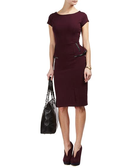 Sale 30118 Dress Megan discount megan peplum dress in burgundy secretsales