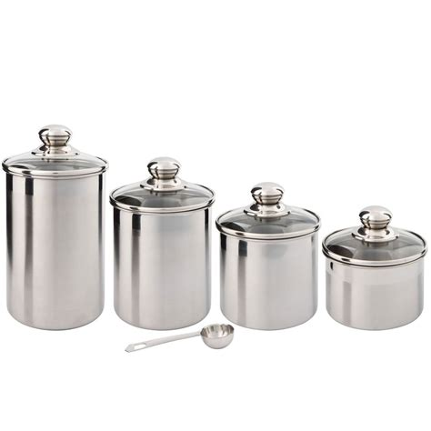 kitchen canisters stainless steel kitchen canister sets as food storage