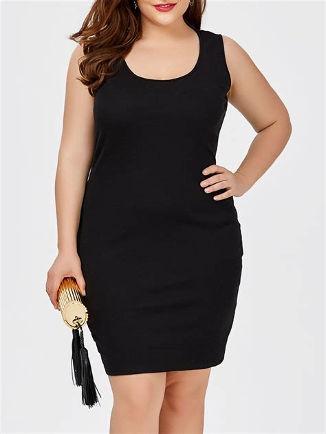 Tank Dress Plus Size by 2018 Plus Size Sheath Tank Fitted Dress Black Xl In Dresses 2018 Store Best