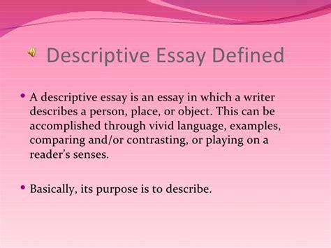 Describe An Object Essay by Descriptive Writing