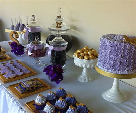 Purple And Gold Decorations by Purple Gold And Butterflies Birthday Ideas