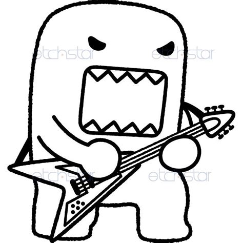domo colouring pages