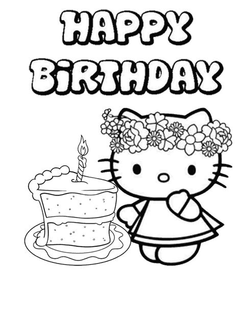 happy birthday coloring page for teacher birthday cake coloring pages printable