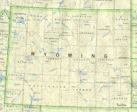 Map Of Wyoming State by Wyoming Base Map