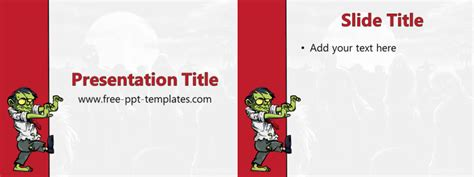 zombie themes for powerpoint zombie ppt template free powerpoint templates
