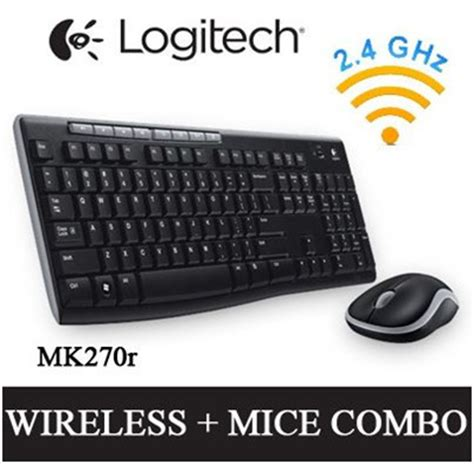 Logitech Wireless Mouse Keyboard Mk270r Combo Mk 270r Original qoo10 logitech mk270r wireless cordless keyboard mouse combo upgraded ver o computer