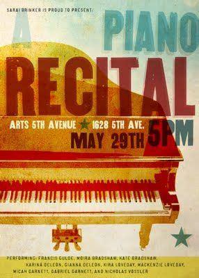 Piano Recital Invitation Poster Program Note Cover Piano Recital Poster Template