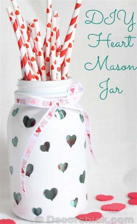 Home Button Decorations by 34 Mason Jar Valentine Crafts Diy Projects For Teens