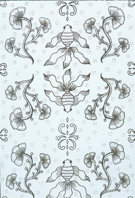 catalog digital collections batik motif bunga dan ikan jiunkpe patterns design