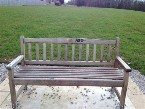 memorial bench uk memorial bench to tragic aj has been defaced blog preston