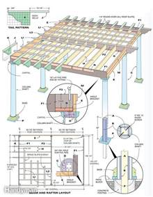 Pergola In Plan by How To Build A Pergola Pdf Plans Easy Outdoor Bench Plans