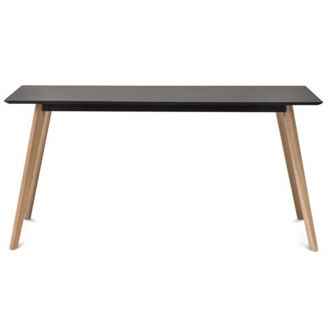 Scandi Dining Table Black Scandi Dining Table Set With 6 Black Padded Eames Chairs Temple Webster