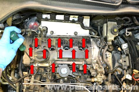 small engine maintenance and repair 2006 volkswagen gti seat position control volkswagen golf gti mk v valve cover gasket replacement 2006 2009 pelican parts diy