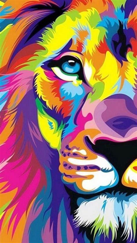 wallpaper colorful lion iphone wallpaper multicolored lion cosas que me encantan
