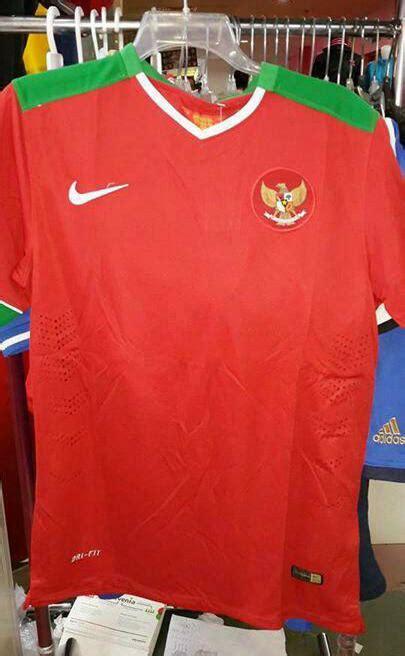 Jersey Lokal Timnas Indonesia Away Putih Kerah Hijau Premium 1 bocoran resmi jersey indonesia home away kit 2014 2016 indonesia alfido