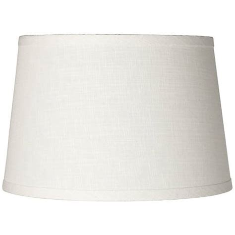 White Barrel L Shade by White Linen Drum L Shade 10x12x8 Spider K4850
