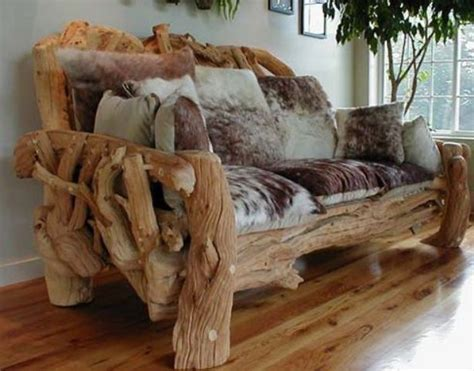 log couch 30 eco friendly driftwood furniture ideas to try digsdigs