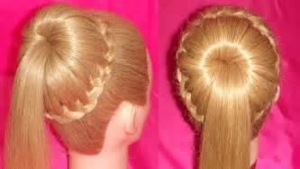 Hairstyle elegant bun ponytail viriyuemoon youtube