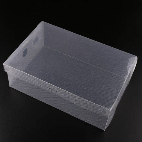 transparent clear plastic shoe boxes stackable