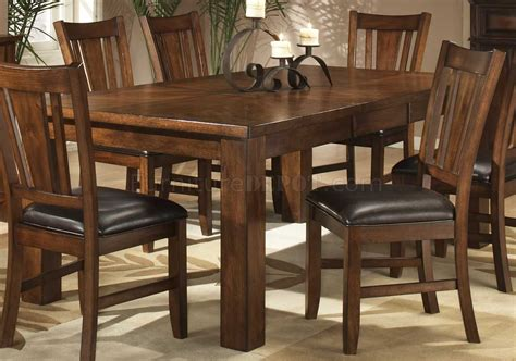 dark dining room table dark oak finish casual dining table w optional chairs
