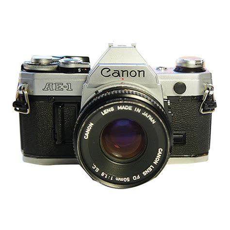 recommended film for canon ae 1 used canon ae 1 film slr w 50mm f 1 8 chrome f good