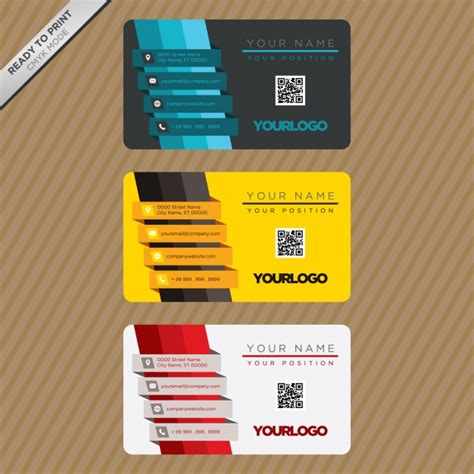 card design templates business card template design vector free