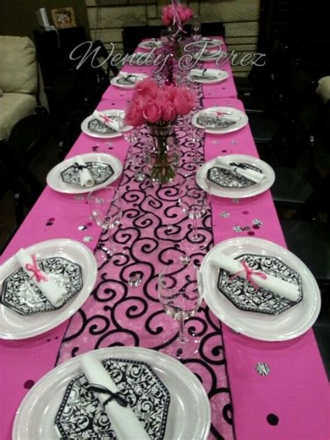 Graduation Dinner Decoration Ideas by Pink Graduation Dinner Table With Pink Roses