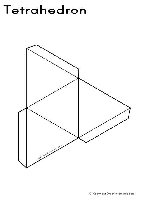 tetrahedron template 3d shapes nets 4 best images of printable 3d shape nets