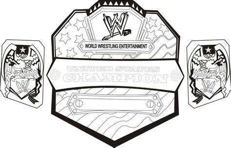 wrestling coloring pages wwe wrestling belts coloring
