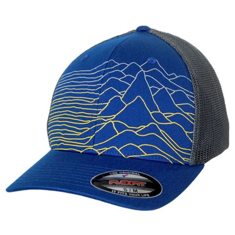 columbia sportswear mesh flexfit cap with mountains all