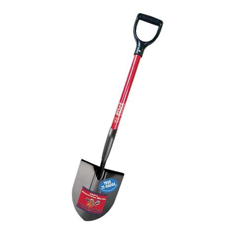 bully tools 12 point shovel with fiberglass d