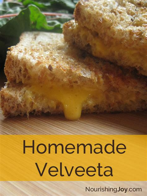 Handmade Real Foods - real food cheez whiz velveeta gasp