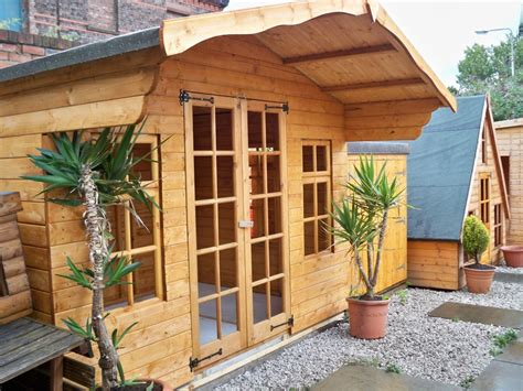 wooden house design ideas nice simple design of the wooden house with garden summer house shed can add the