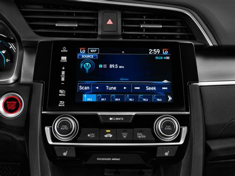 Audio Interiors by Image 2016 Honda Civic 4 Door Cvt Touring Audio System