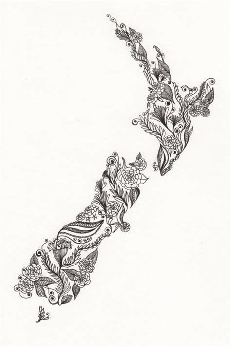 pattern making nz new zealand patterned art drawing 8x10 quot print unframed a