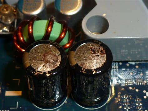 blown capacitor image is it worth repairing an imac g5 blown capacitors macrumors forums