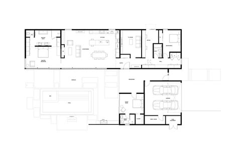 glass wall floor plan glass wall house klopf architecture archdaily