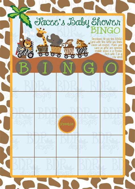 printable jungle animal bingo safari express bingo card safari express pinterest