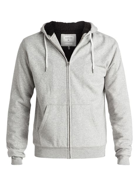 Hoodie Zipper Go 1 epic outback sherpa zip up hoodie eqyft03430 quiksilver